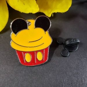 4/$25 Disney Mickey Red and Orange Cupcake Pin